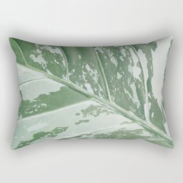 Leafy Abstract Rectangular Pillow