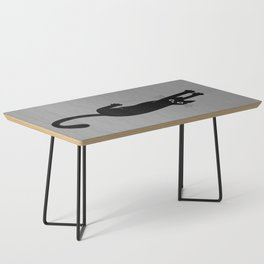 Black Cat Hanging On | Funny Cat Coffee Table