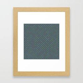 Random Pattern: YES! NO! Framed Art Print