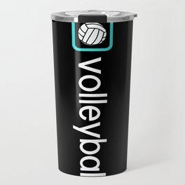 Volleyball (Blue) Travel Mug