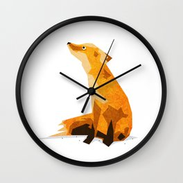 The Chillin' Fox Wall Clock