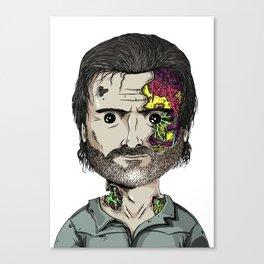 Rick Grimes The Walking Dead zombie portrait Canvas Print