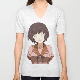 Anime Girl Unisex V-Neck