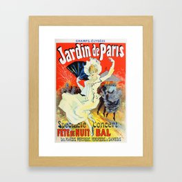 Jules Cheret Champs Elysees Jardin De Paris 1892 Framed Art Print