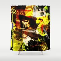 hat Shower Curtains featuring RAD HAT  by Chandelina