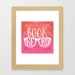 Book Nerd Framed Art Print