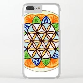 Celebrate Life Mandala Clear iPhone Case