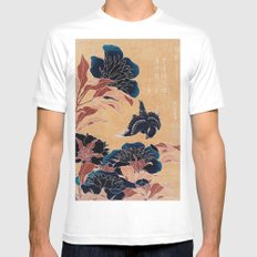 japanese flowers MEDIUM Mens Fitted Tee White