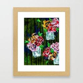 Buckets of Flowers Framed Art Print
