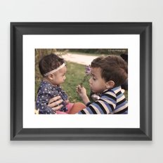 Brother and Sisterly Love Framed Art Print