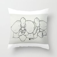 plain Throw Pillows featuring Plain Orchid by Razias