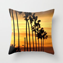 CALIFORNIA SUNSET Throw Pillow