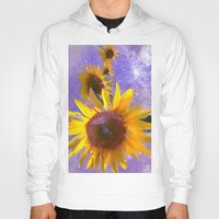 sunflower Hoodies featuring Sunflower4 by Regan's World