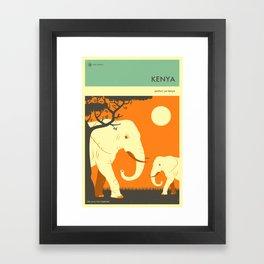 KENYA TRAVEL POSTER Framed Art Print