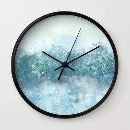 Choppy Blue Ocean Water Wall Clock