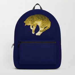 Beautiful Yellow Cat Illustration Backpack