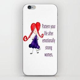 Emotionally Strong Women iPhone Skin