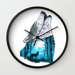 Wolf's Song Wall Clock