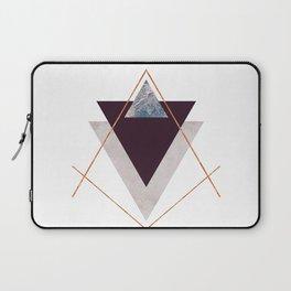PLUM COPPER AND BLUSH GEOMETRIC Laptop Sleeve