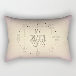 My Creative Process Rectangular Pillow