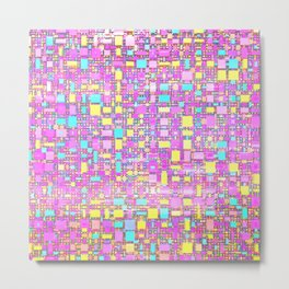 Wild Pastel Cubes Metal Print