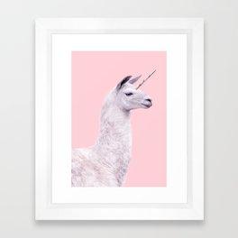 UNICORN LAMA Framed Art Print