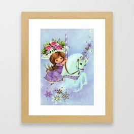 Carousel Cutie Framed Art Print
