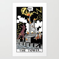 martell Art Prints featuring XVI-The Tower by Benjamin Mackey