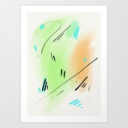 Abstract sunrise S1 Art Print