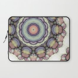 Abstract flowers mandala Laptop Sleeve