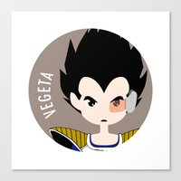 vegeta Canvas Prints featuring Vegeta by gaps81