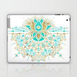 Sacred Lotus Mandala – Turquoise & Gold Palette Laptop & iPad Skin