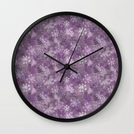 Cow Parsley Silhouettes Wall Clock