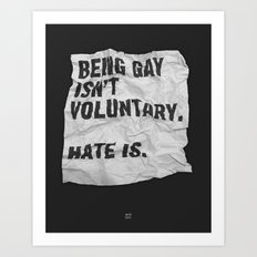 Voluntary Art Print