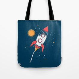 Bottle Rocket to the Milky Way Tote Bag
