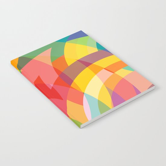 circle colour fields Notebook