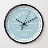 logo Wall Clocks featuring LOGO by El Soldadito de Plomo