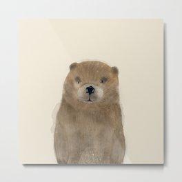 little beaver Metal Print