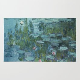 Nymphéas, Claude Monet Rug