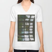 window V-neck T-shirts featuring Window by Aaron Carberry