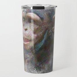 Artistic Animal Young Chimp Travel Mug