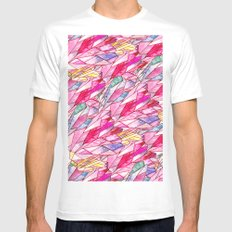 Crystal pattern MEDIUM Mens Fitted Tee White