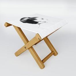 Woman Portrait Fashion Minimal Drawing Folding Stool