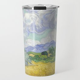 A Wheatfield with Cypresses by Vincent van Gogh Travel Mug