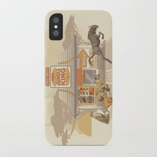 Fast Food (Jungle King) iPhone Case