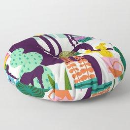 Natural Recall poster design Floor Pillow