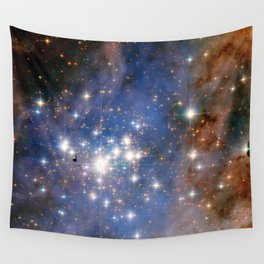 Star cluster Trumpler 14 in the Milky Way (NASA/ESA Hubble Space Telescope) Wall Tapestry