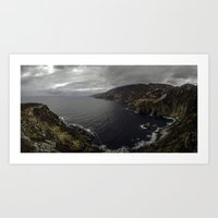 league Art Prints featuring Slieve League by cmphotography