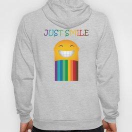 Just Smile Rainbow-Liked Design Hoody