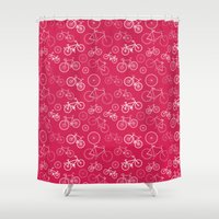 bicycles Shower Curtains featuring Bicycles by Kippy